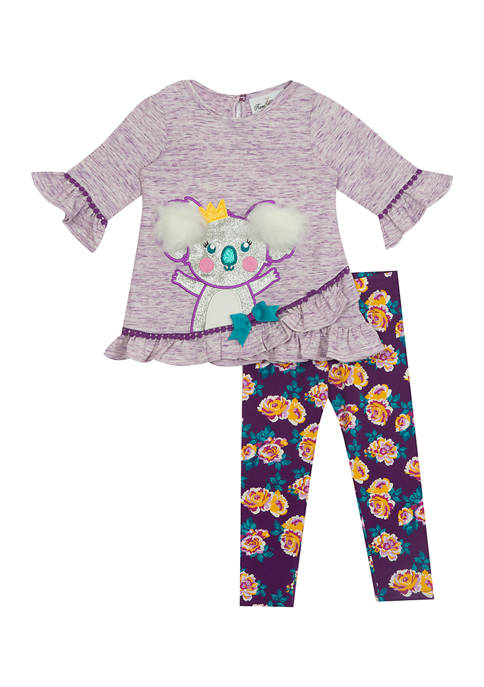 Counting Daisies Girls 4-6x 2 Piece Long Sleeve