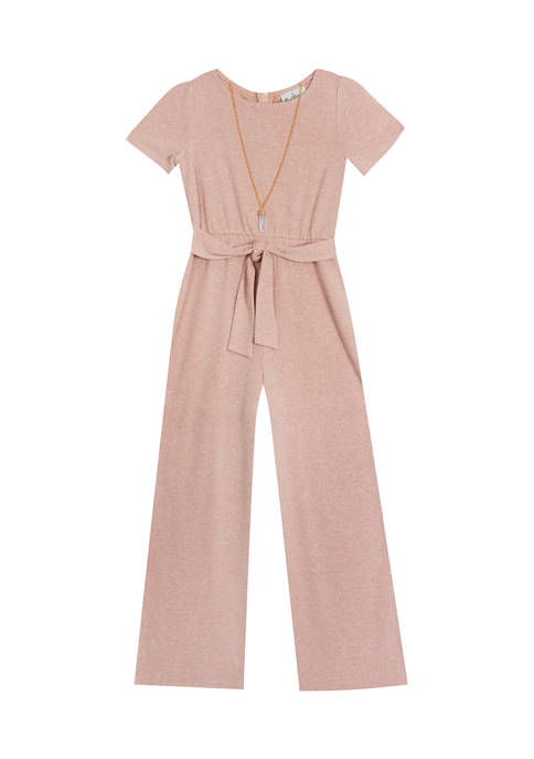 Rare Editions Girls 4-6x Short Sleeve Jumpsuit