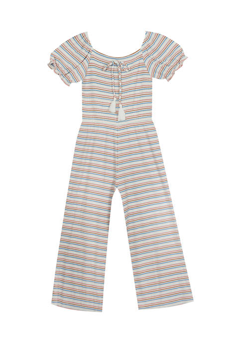 Rare Editions Girls 4-6x Smocked Jumpsuit