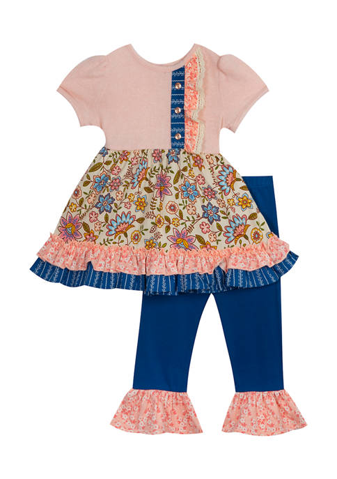 Counting Daisies Girls 4-6x 2 Piece Floral Puff