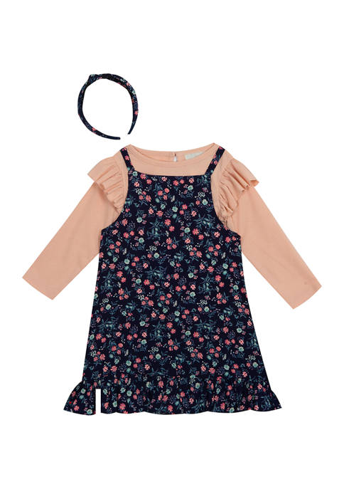 Counting Daisies Girls 4-6x Floral Printed Jumper with