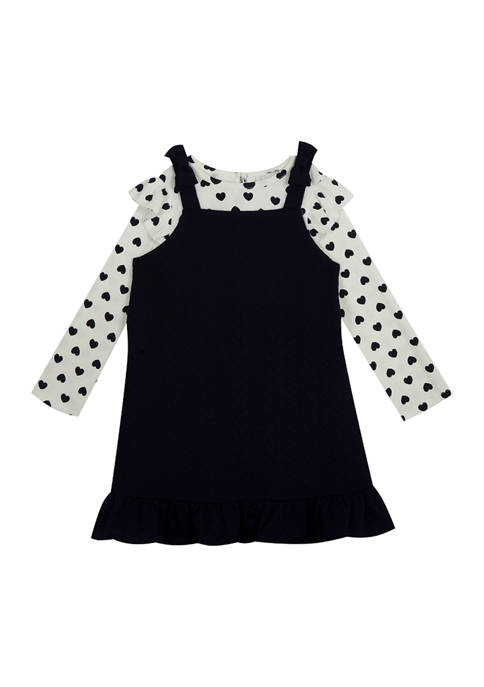 Girls 4-6x Knit Jumper with Printed Heart Top