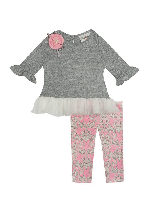 Rare Editions Girls 4-6x Hacci Knit Dress and
