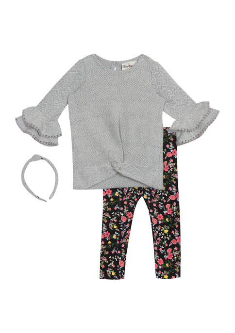 Counting Daisies Girls 4-6x Textured Knit Top with