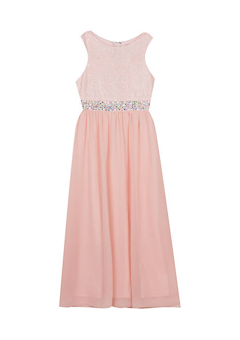 Rare Editions Girls 7-16 Champagne Lace Top Maxi