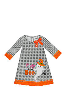 Girls 7-16 Halloween Boo Dress
