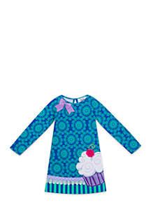 Girls 7-12 Violet Cupcake Dress