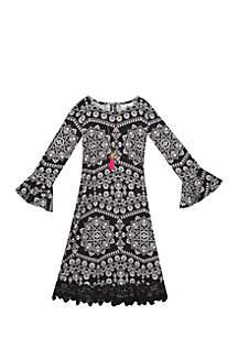 Girls 7-16 Flounce Sleeve Yummy Dress