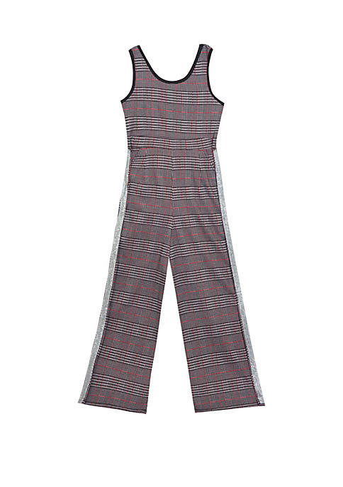 Rare Editions Girls 7-16 Plaid Jumpsuit