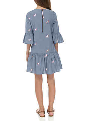 2c185ea12fec ... Rare Editions Girls 7-16 Long Sleeve Chambray Unicorn Dress