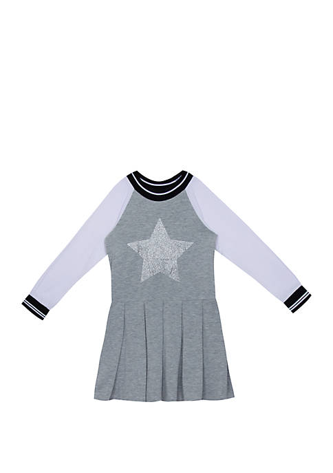 Rare Editions Girls 7-16 Long Sleeve Varsity Sequin
