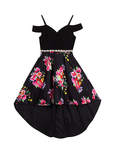 Rare Editions Girls 7-16 Off the Shoulder Floral
