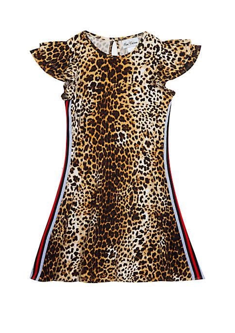 Rare Editions Girls 7-16 Leopard Print Yummy Dress
