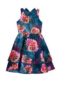 Rare Editions Girls 7-16 Multi Floral Dress