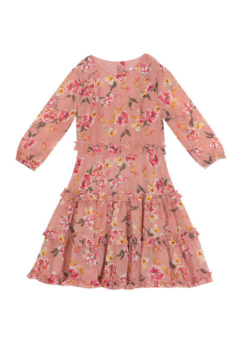 Rare Editions Girls 7-16 Long Sleeve Dress