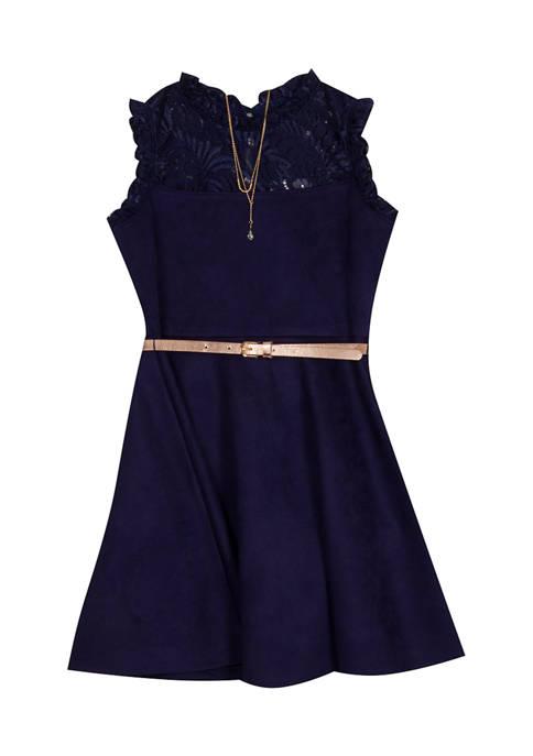 Girls 7-16 Sleeveless Dress
