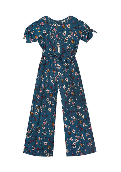 Counting Daisies Girls 7-16 Brushed Knit Jumpsuit with