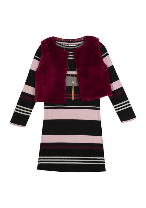 Rare Editions Girls 7-16 Long Sleeve Dress with