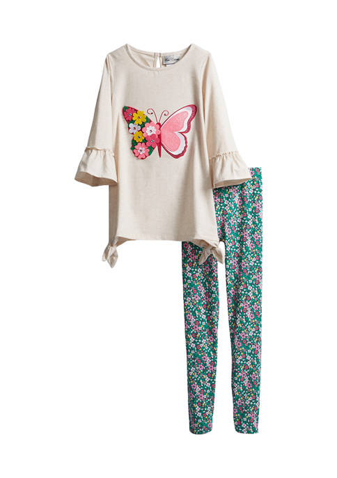 Girls 7-16 Butterfly Graphic Set