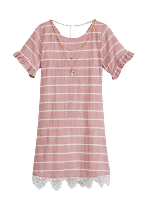 Girls 7-16 Textured Rib Knit Dress