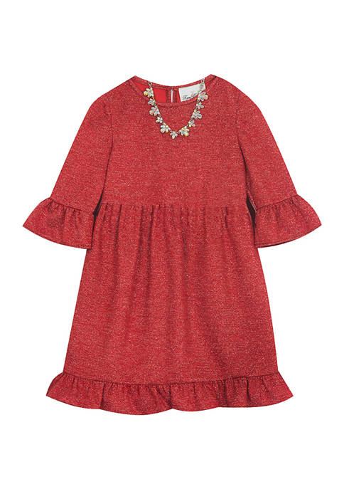 Rare Editions Girls 4-6x Glitter Knit Dress with