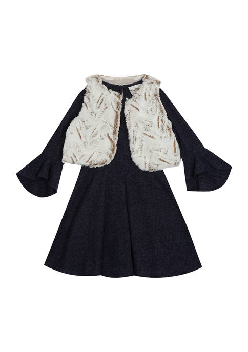 Rare Editions Girls 4-6x Sweater Knit Dress with
