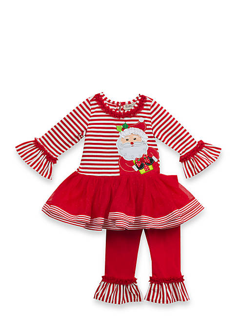 Rare Editions 2-Piece Santa Tulle Tunic and Leggings