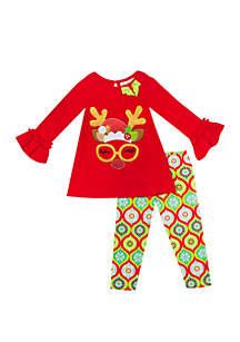 Girls 4-6x Reindeer Set