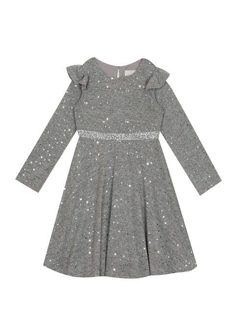 Rare Editions Girls 7-16 Hacci Knit Dress with