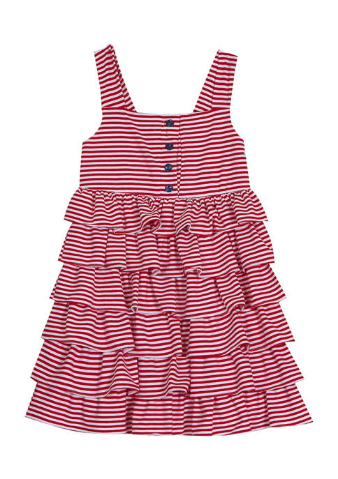 Counting Daisies Girls 4-6x Yarn Dyed Stripe Knit