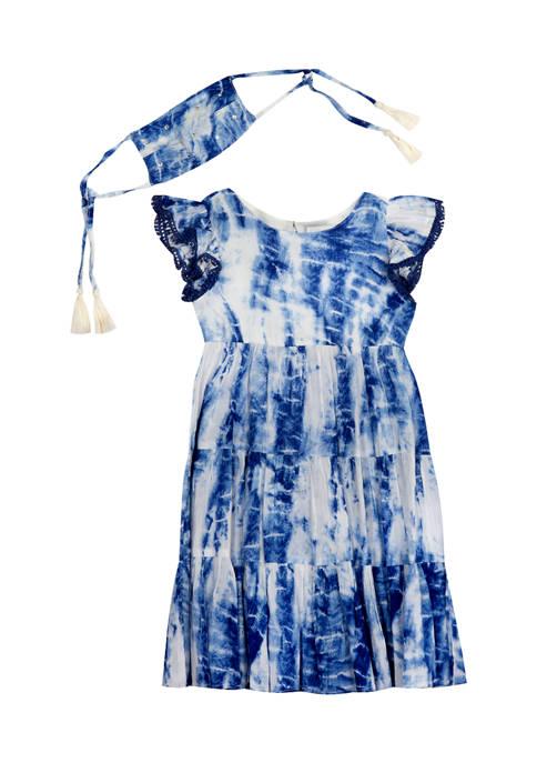 Counting Daisies Girls 4-6x Tie Dye Gauze Dress