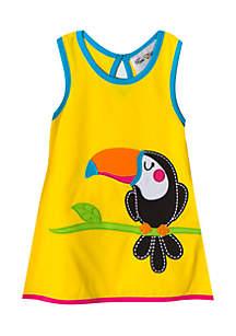 Girls 4-6x Toucan Applique Dress