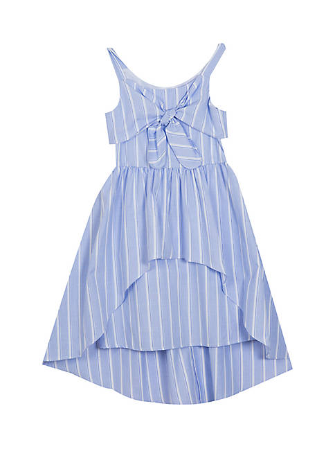 Rare Editions Girls 4-6x Blue Stripe High Low