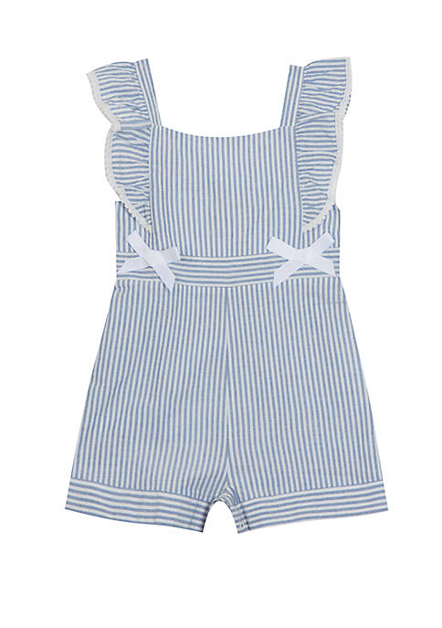 Girls 4-6x Stripe Romper with Bows