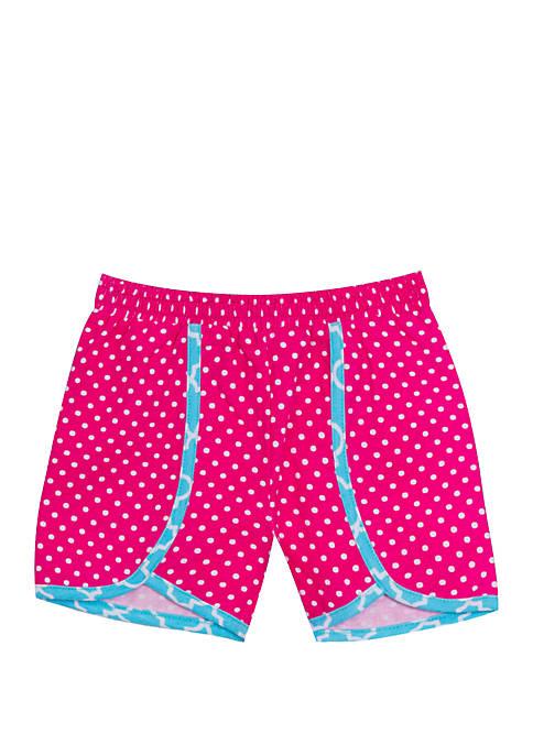 Girls 4-6x Pink Polka Dot Shorts