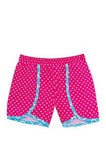 Jumping Fences by Rare Editions Girls 4-6x Pink Polka Dot Shorts