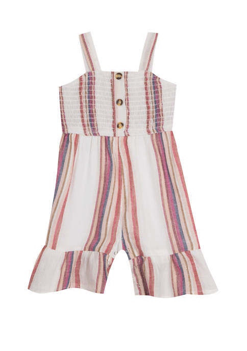 Rare Editions Girls 4-6x Sleeveless Ruffle Pant Jumpsuit