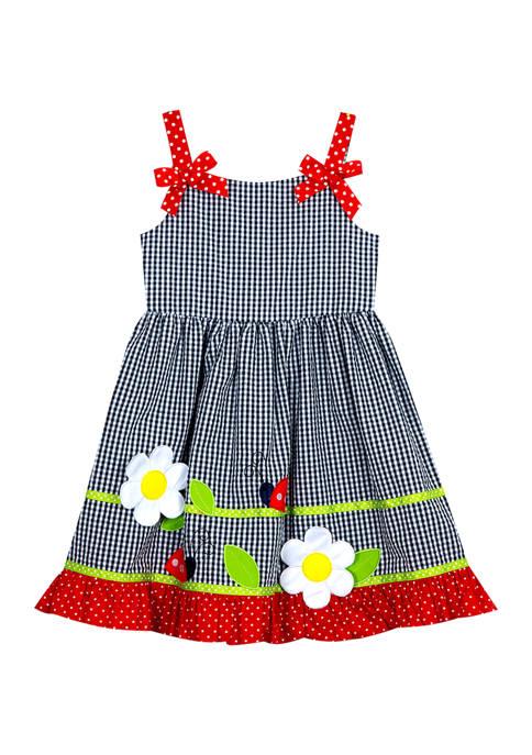 Counting Daisies Girls 4-6x Seersucker Ladybug Dress