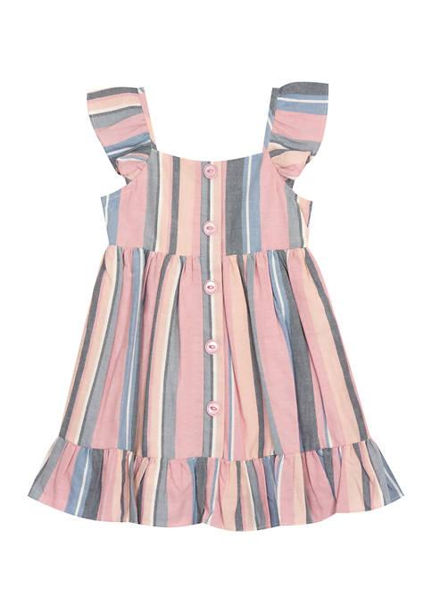 Counting Daisies Girls 4-6x Striped Yarn Dye Dress
