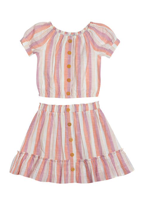Counting Daisies Girls 7-16 Yarn Dyed Stripe Top