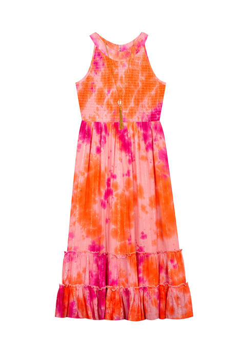 Counting Daisies Girls 7-16 Tie Dye Maxi Dress