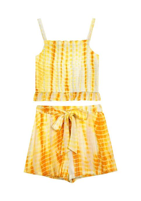 Counting Daisies Girls 7-16 Gauze Tie Dye Short