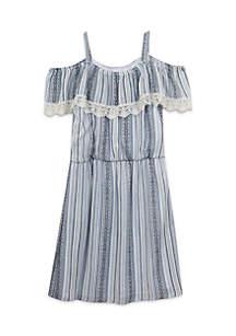 Girls 7-16 Ruffle Lace Dress