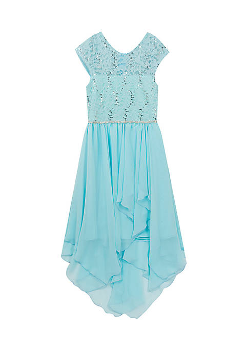 Rare Editions Lace Sequin Dress Girls 7-16