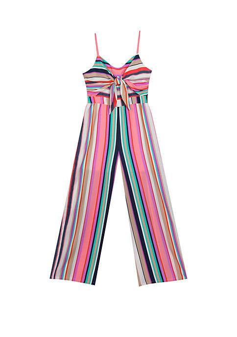 Girls 7-16 Multicolor Tie Front Jumpsuit