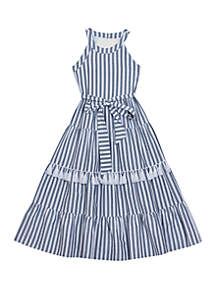 f24189c5224 Rare Editions Toddler Girls Pineapple Cotton Dress · Rare Editions Girls  7-16 Blue and White Tiered Halter Maxi