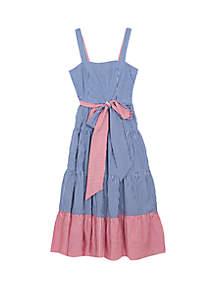 620ba2c87b3 ... Pleated Short Dress · Rare Editions Girls 7-16 Red Blue Belted Midi Mix  Print Dress