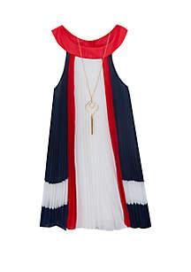 7485f3f7961 ... Rare Editions Girls 7-16 Americana Pleated Short Dress