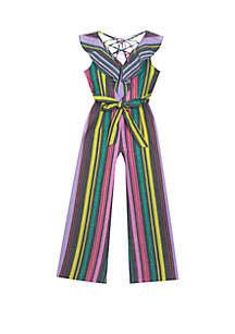 af87ff15c53 ... Rare Editions Girls 7-16 Striped Linen Jumpsuit