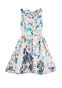 Rare Editions. Rare Editions Girls 7-16 Foil Floral Skater Dress 70485b841